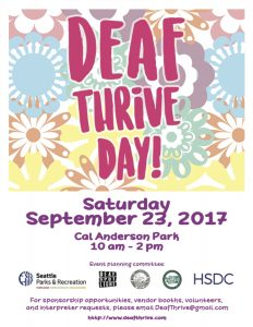 Deaf Thrive Day! flyer