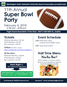 WAGUAA Super Bowl Party 2018