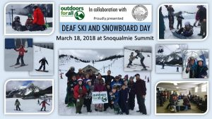 OfA/PSAD Deaf Ski/Snowboard Day collage
