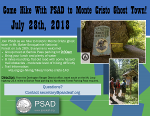 PSAD Hiking Trip flyer