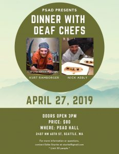 Dinner with Deaf Chefs Flyer