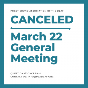 Canceled - March 22